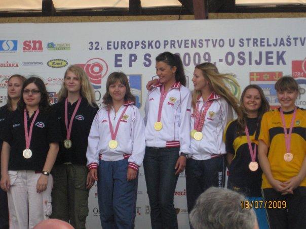 Победители Первенства Европы в Хорватии. По центру мсмк В. Заболотская