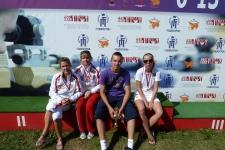 спортсмены ГССЦ после награждения на первенстве России